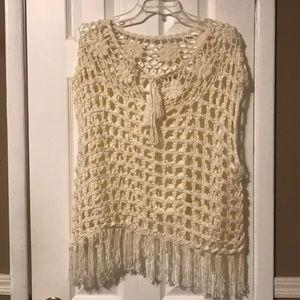 Forever 21 cream crochet top